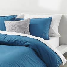 lacoste washed solid comforter sets blue sapphire