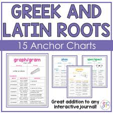 Latin Roots Chart Greek And Latin Root Word Posters