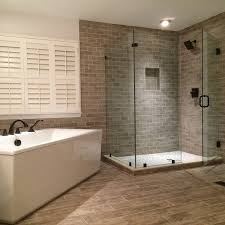 corner shower enclosure installed with clips ...
