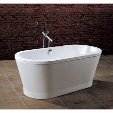 white freestanding bathtub modern bathroom