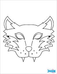 Masque Loup Coloriage L L L L L L