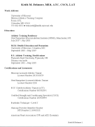 Resume Of Trainer Pin By Ali Harris On Athletic Training Athletic Trainers