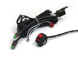 complete spot fog light wiring loom harness kit on off image 1