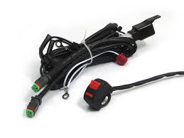 complete spot light fog light motorbike wiring loom harness kit complete spot fog light wiring loom harness kit on off switch for motorbikes