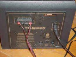 setup klipsch promedia 2 1 the din cable then runs down to the subwoofer to be amplified and sent to the speakers