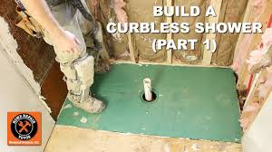 how to build a curbless shower part 1