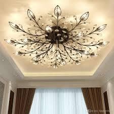 modern nordic k9 crystal led ceiling lights fixture gold black home lamps for living room bedroom kitchen bathroom tree branch chandelier decorative