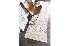 amelia bone ivory grey diamond durable runner rug 400x80cm
