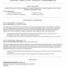 87 Store Manager Resume Template Best Store Manager Resume