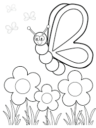 Easy Flower Coloring Pages Coloring Pages Printable Easy Coloring