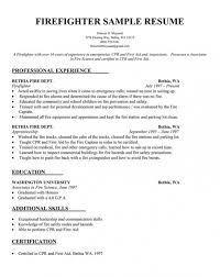 Firefighter Resume Template Mesmerizing Download Our Sample Of Resume Sample Firefighter Resume Template