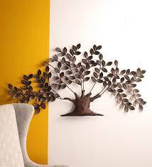 tuzech metal designer handmade handicraft gift item showpiece wall decor piece giving bravery large tree with leaves