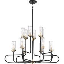 quoizel tnr5012ek tenor 12 light 34 inch earth black chandelier ceiling light