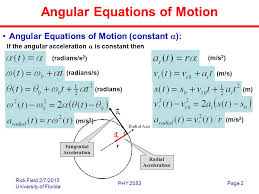angular equations of motion