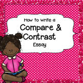 compare and contrast essays teaching resources teachers pay teachers how to write a compare and contrast essay