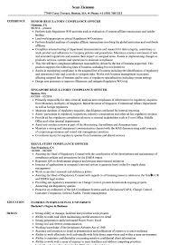 Regulatory Compliance Officer Resume Samples Velvet Jobs