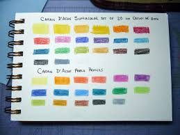Supracolor Color Chart Caran Dache Supracolor And Pablo Color Charts On Cachet W