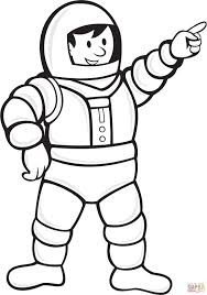 Astronaut In Een Ruimtepak Kleurplaat Gratis Kleurplaten Printen
