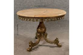 onyx marble gilt metal coffee side lamp table ornate italian 20th century photo 1