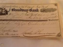 It expresses the views and opinions of the author. Antique Cancelled Bank Check 1865 Fire Dept Telegraph Operator Salary For 83 33 1756830181