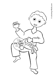 karate coloring pages save karate sports coloring pages for kids free printable
