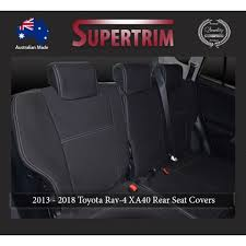 seat covers 2nd row full back separate armrest cover snug fit for toyota rav4 xa40 2016 2018 premium neoprene automotive grade 100 waterproof
