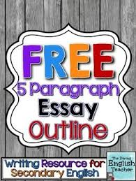 Free Five Paragraph Essay Outline Language Arts Pinterest