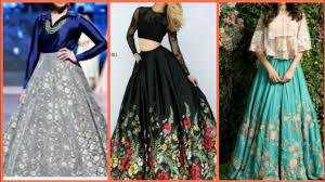 Designer Long Skirt Dresses Latest Designer Skirt Top Designs Party Wear Dresses Crop Top Skirt Design 2018