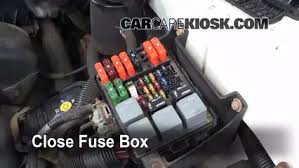 replace a fuse 1990 2005 chevrolet astro 2001 chevrolet astro 6 replace cover secure the cover and test component