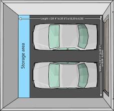 2 car garage door sizes