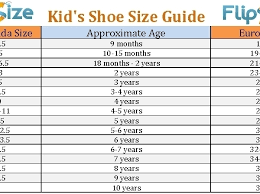 Kids Shoes Size Chart By Age Bedowntowndaytona Com