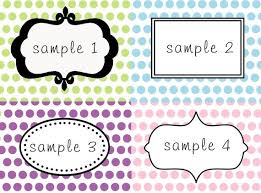 Table Labels Template Wooden Diy Buffet Table Labels Pdf Plans Layout Template
