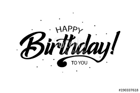 Happy Birthday Card Beautiful Greeting Banner Poster Lettering