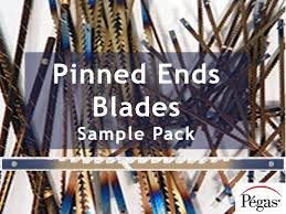 Pegas Scroll Saw Sample Pack Pinned Blades