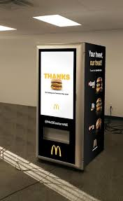 Get Free Food Out Vending Machines Interesting This Machine Will Serve You A Free Big Mac The Boston Globe