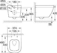 Унитаз подвесной <b>Grohe Euro Ceramic</b> 3920600H компактный ...
