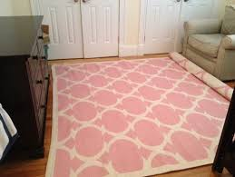 pink and cream rug