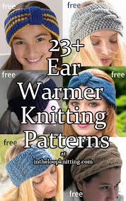Knitted Ear Warmers Free Pattern