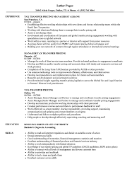 Transfer Resume Sample Taxtransfer Pricing Resume Samples Velvet Jobs 3
