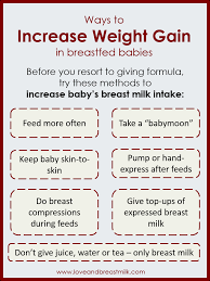 Ebf Growth Chart How To Increase Weight Gain In A Breast Fed Baby Love And