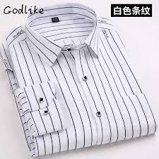 <b>2019 new</b> leisure business men's formal dress stripe shirt luxury ...