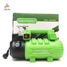 Máy Rửa Xe 2650W Amaxtools AMG2660 đầy đủ phụ kiện - Có ren chống xoắn dây  - Máy xịt rửa gia đình chính hãng
