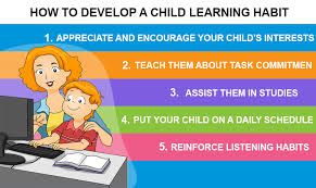 ways to inculcate a good learning habit in your child    how to develop a child learning habit