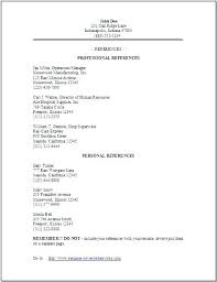 How To List References On A Cv Cover Letter Reference Resume Cv Sample Of References With