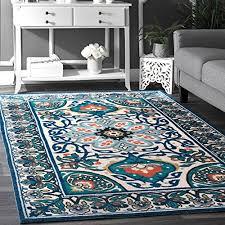 nuloom 8 feet by 10 feet fl leda rug blue