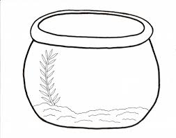 fish bowl clip art black and white. Unique White Printable Fish Bowl Coloring Pages  Fun With Clip Art Black And White S