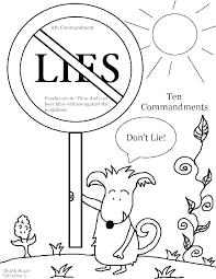 Ten Commandments For Kids Coloring Pages Ten Commandments Coloring
