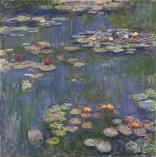 paintings reions monet claude oscar water lilies
