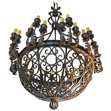 chic wrought iron chandeliers exceptional and very rare imposing 1920 wrought iron chandelier