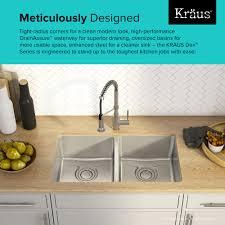 kraus dex 8482 33 inch undermount 50 50 double bowl t304plus tru16